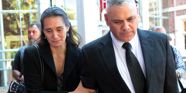 Stephen Dudley's parents, Mona and Brent, leaving the High Court at Auckland. Photo/File