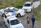 Police had one man in handcuffs and were talking to a woman, under Red Bridge, Tukituki River, Waimarama Rd, Havelock North.