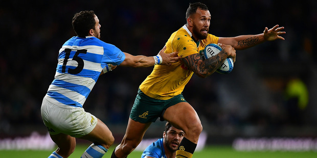 Quade Cooper of the Australian Wallabies was born in New Zealand and has family ties to Northland.