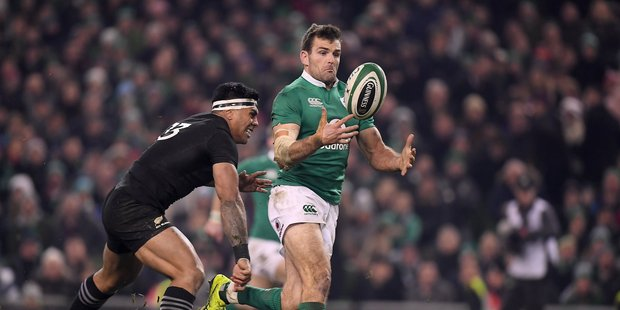 Former Northland captain Jared Payne now plays for Ireland  - here he is in action against New Zealand.