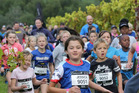 Children run in the  Air New Zealand Hawke's Bay International Marathon.