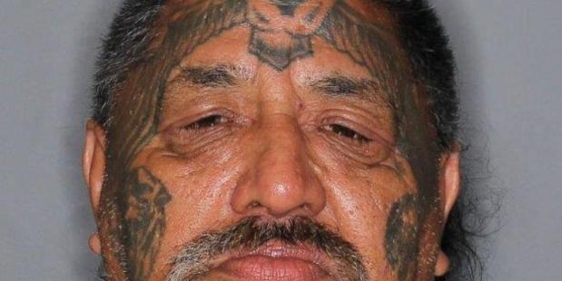Senior Whangarei Black Power gang member Walter Reid Ngaau was arrested in Tinopai and is likely to appear in court today. PHOTO/SUPPLIED