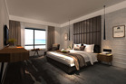 An artist's impression of the new hotel rooms at Rotorua's first five-star hotel, on Arawa St. Graphic/supplied