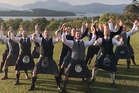 Wedding guests were left stunned at an inspiring Mari haka performed by the groom's Scottish friends. Photo / Daily Record