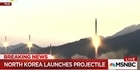 Watch: Watch: North Korea launches projectile