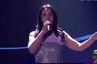 A man dressed in an Australian flag flashed on stage during Ukrainian singer Jamala's performance. He was quickly pulled off stage by security. Source: BBC