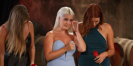Lily and Viarni console Claudia after she was dumped by The Bachelor Zac Franich.