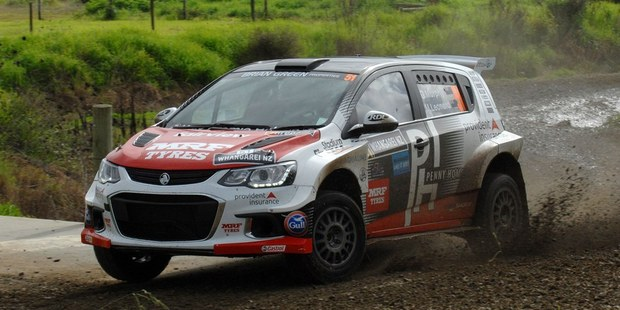 Greg Murphy in action during the International Rally of Whangarei. Photo / Euan Cameron