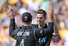 Mitchell Santner took 4-7 in his final spell. Photosport