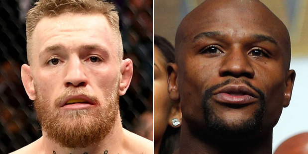 A Conor McGregor, left, and Floyd Mayweather matchup would prove lucrative for both fighters. Photos / Getty Images