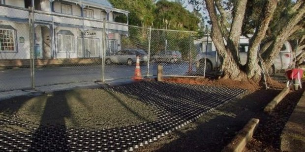 'Honeycomb' grids now protect the roots of the pohutukawa on Mangonui's waterfront.