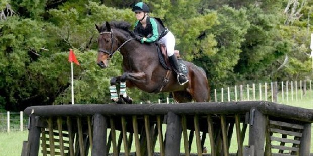 Paraparaumu rider Meg Dempster and Pixie Caramel in winning style at the New Zealand Pony Club Association championships in Whangarei where they brought home the Dorothy Campbell Trophy.