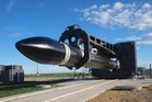 Rocket Lab's Electron rocket at the Mahia launch site. Photo / Supplied