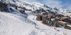 France, Savoie, Tarentaise valley, Meribel Mottaret is one of the largest skiresort village in France.