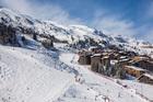 France, Savoie, Tarentaise valley, Meribel Mottaret is one of the largest skiresort village in France.