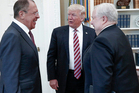 Donald Trump pictured with Russian Foreign Minister Sergey Lavrov, left, and Russian Ambassador to the US Sergei Kislyak at the White House in Washington. Photo / AP