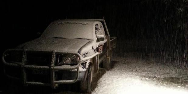 Loading A light dusting of snow fell in Naseby overnight. Photo / Craig Sherson