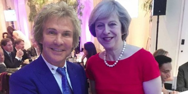 Charlie Mullins, left, and UK Prime Minister Theresa May. Photo / Twitter