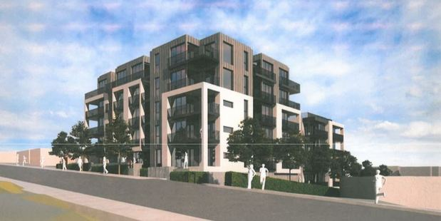 Some apartments planned for Takapuna's Tennyson Ave will have no car parks.