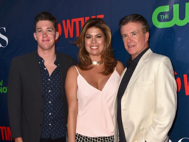Carter Thicke, Tanya Callau and Alan Thicke. Photo/Getty Images