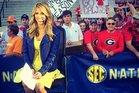 Sacked ESPN presenter Sara Walsh at a college football game. Photo/Sara Walsh/Twitter