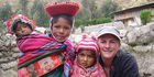 Rachel Williams and friends in the Andes.