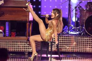Grande pictured at the 42nd annual American Music Awards. Photo/AP