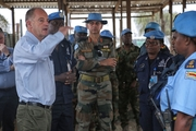 David Shearer is in charge of a peacekeeping force made up of members from 45 countries.