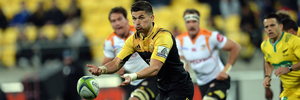 Otere Black got a rare start for the Hurricanes in his team's big win over the Cheetahs last weekend. Photo / Photosport
