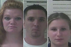 Tiffany Thibodeaux, Brandon Mabery and Amy Hammers. Photo / Police handout