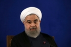 Iranian President Hassan Rouhani gives a press conference in Tehran. Photo / AP