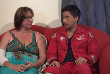 Joanna Harris would have died in the rescue helicopter if Dr Marcus Chan hadn't been aboard. Photo / NZ Herald Focus