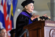 Hillary Clinton graduated from Wellesley College in 1969. Photo / AP