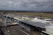 A woman has been arrested after allegedly spitting on someone during an outburst on a domestic flight from Auckland. Photo of the Auckland Domestic Terminal. Photo / Richard Robinson.