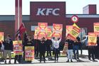 Restaurant Brands employees around New Zealand went on strike last month. Photo / Stephen Parker