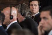 Jared Kushner, the White House adviser, listens as President Trump and Italian Prime Minister Paolo Gentiloni participate in a joint news conference in the White House. Photo / Washington Post