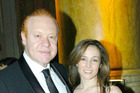 Australia's richest man, left, Anthony Pratt and Claudine Revere. Photo / Getty Images