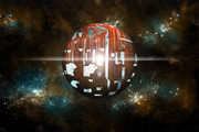An artists depiction of a theoretical Dyson sphere. Photo / Getty Images