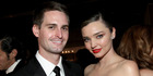 Founder, Snapchat Evan Spiegel (L) and model Miranda Kerr are set to get married. Photo / Getty
