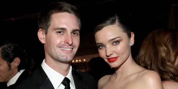 Supermodel Miranda Kerr has married Snapchat CEO Evan Spiegel