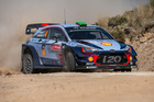 Hayden Paddon during the SS12 Amarante of the WRC Portugal. Photo / Getty Images
