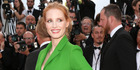 """CANNES, FRANCE - MAY 21: Jessica Chastain attends """"The Meyerowitz Stories"""" premiere during the 70th annual Cannes Film Festival at Palais des Festivals on May 21, 2017 in Cannes, France. ("""