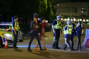 Police and fans close to the Manchester Arena on May 23, 2017 in Manchester, England. Photo / Getty Images
