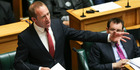 Labour leader Andrew Little speaks during the 2017 budget presentation at Parliament. Photo / Getty