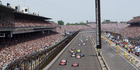 A general view of Scott Dixon leading the pack at the 2008 Indianapolis 500. Photo / Getty Images