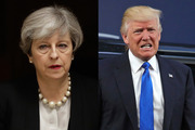 British Prime Minister Theresa May will raise the issue with Donald Trump today. Photos / AP