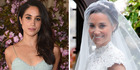 While she didn't upstage Pippa with her outfit, Meghan's colour of choice has raised eyebrows among etiquette experts. Photo / Getty