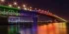 Watch: Watch: Spectacular Auckland Harbour Bridge lights