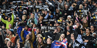 Fans and supporters during New Zealand All Blacks v Argentina Pumas. Photo / Photosport