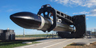 Rocket Lab's Electron rocket at its Mahia Peninsula being readied for launch. Photo / Supplied